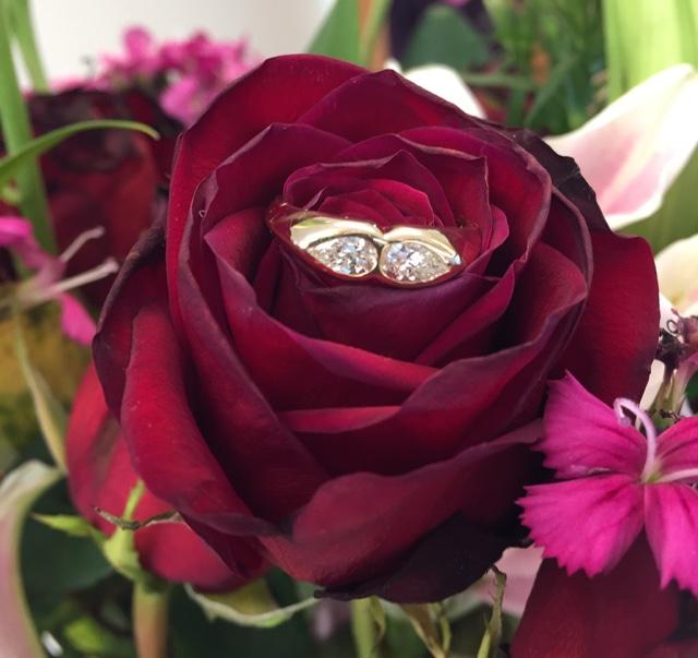 mocTheElms's Two diamond Pear Ring