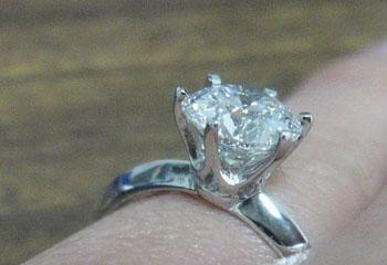 Union Diamond Inspired by Tiffany Setting