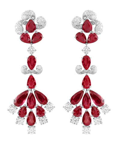 Van Cleef & Arpels ruby Zip earrings