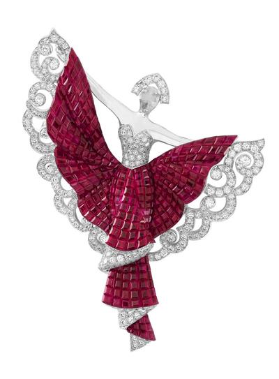 Van Cleef & Arpels Silk Road Dance Clip