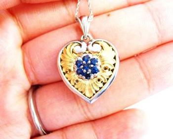 Van Craeynest sapphire pendant