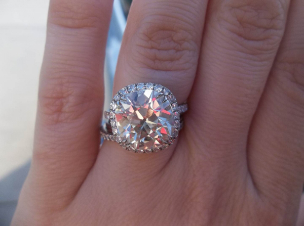 5-carat antique cushion-cut diamond ring posted by SB621