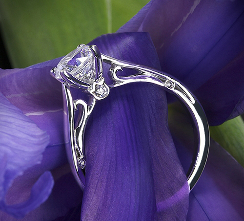 Verragio cathedral solitaire engagement ring, Whiteflash