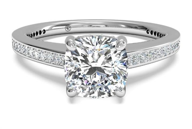 vintage cushion cut diamond ring