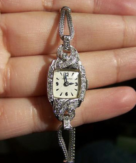 Vintage Hamilton Diamond Watch