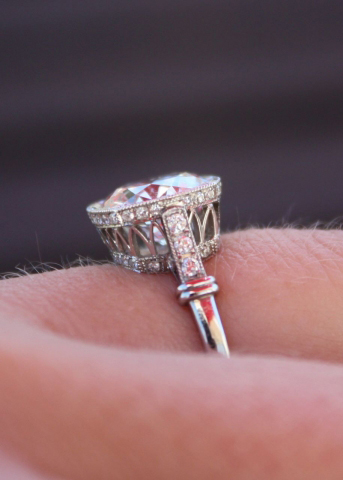 Vintage Inspired Diamond Engagement Ring Profile