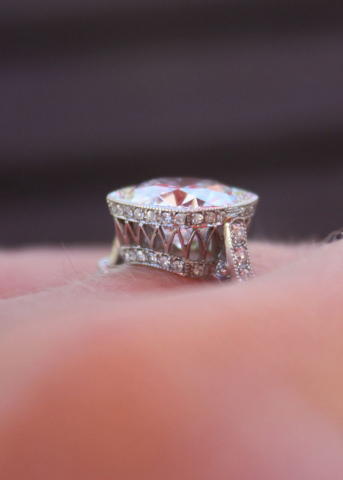 Vintage Inspired Diamond Engagement Ring Gallery Detail