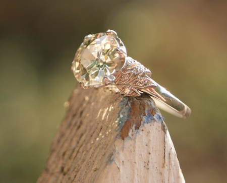 old European cut diamond ring