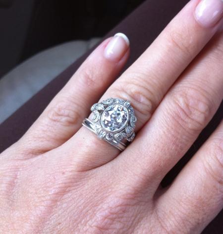 Antique Oval Cut Diamond Ring
