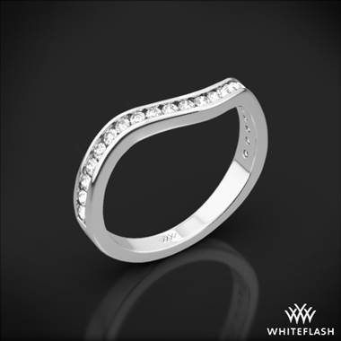 Iris diamond wedding ring set in 18K white gold at Whiteflash