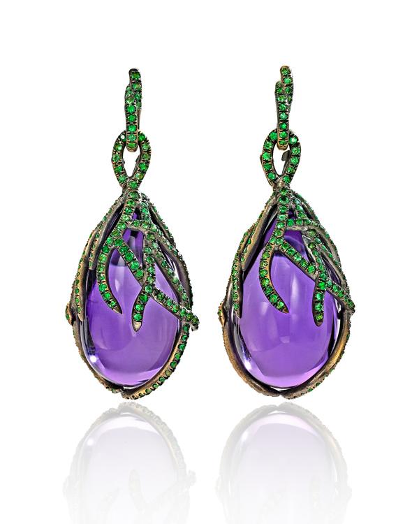 Marie Antoinette earrings by Wendy Brandes