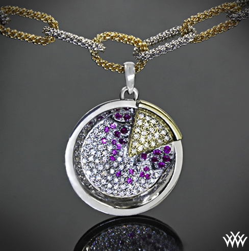 Diamond pie necklace by Whiteflash