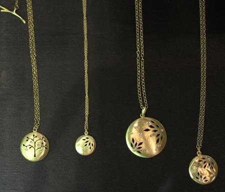 Yasuko Azuma gold diamond Tree of Life pendants Couture 2011