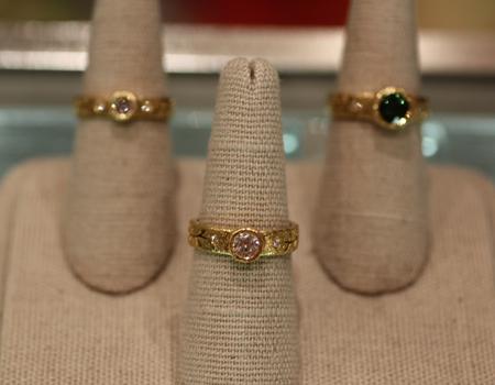 Yasuko Azuma gold diamond rings Couture 2011