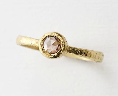 Yasuko Azuma rose cut brown diamond ring