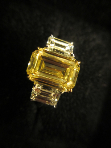 Yellow diamond 3-stone ring by Leon Mege shared by acebruin