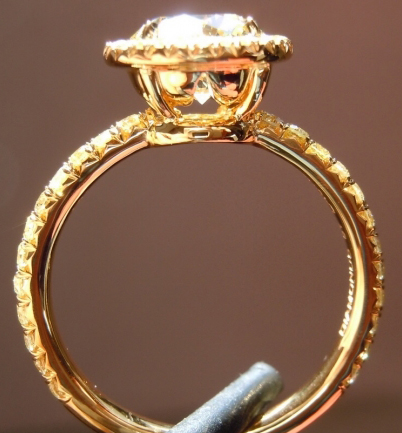 Yellow Diamond Halo Ring - image shared by drduncan