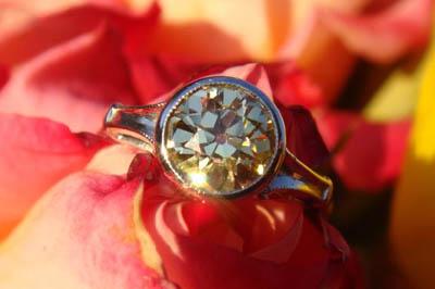 Vintage Yellow Diamond ring