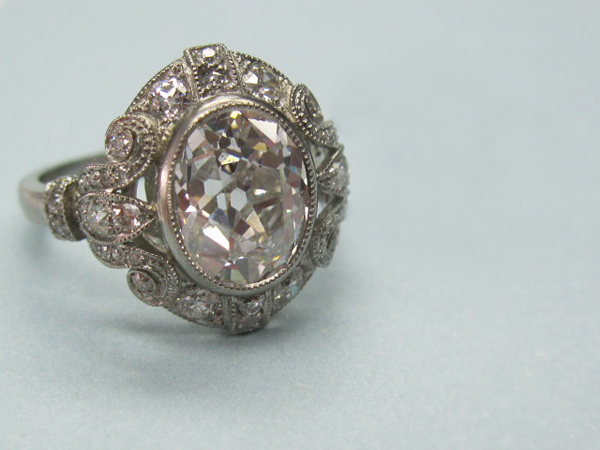 Antique oval-cut diamond ring by Single Stone