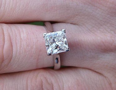 Diamond V Prong Engagement Ring