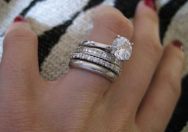 Diamond Ring and Wedding Bands