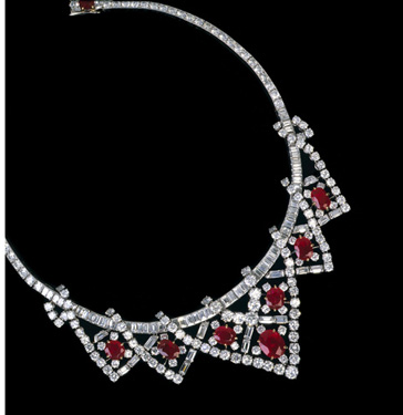 Cartier Ruby Necklace Elizabeth Taylor