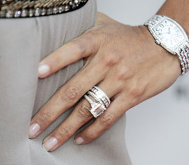 Eva Longoria Diamond Engagement Ring