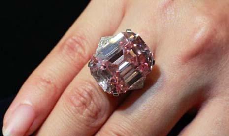 Harry Winston Pink Diamond Ring