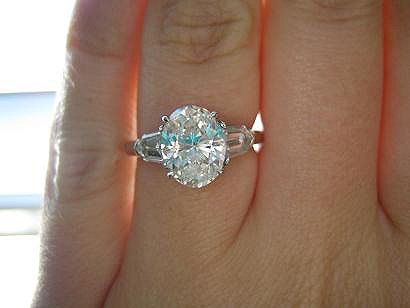 Oval Three Stone Diamond Engagement Rings Three Stone Engagement Ring