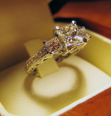 princess engagement ring - Princess Wedding Ring