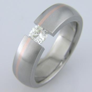 Mens Black Diamond Solitaire Ring