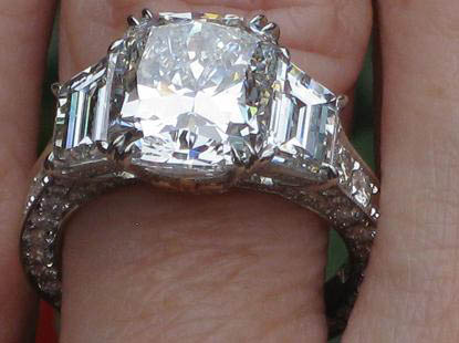 Double Claw Prong Diamond  Engagement Ring