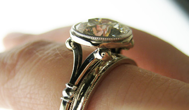 Diamond Solitaire Engagement Ring with Wedding Band