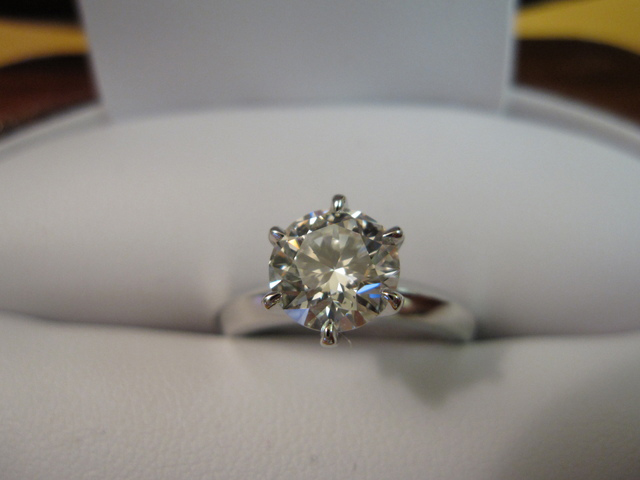 Diamond  Engagement Ring Six Prong Setting