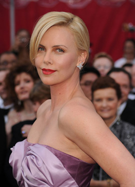Charlize Theron Harry Winston earrings