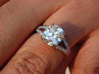 split shank engagement ring flowing pave rings a diamond