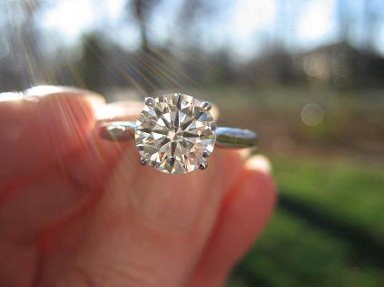 Diamond  Engagement Ring Four Prong Setting