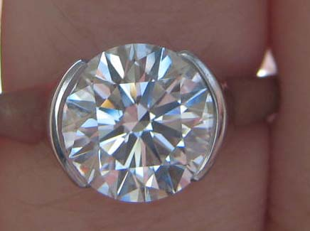 Diamond Engagement Ring Sholdt Half Bezel Setting