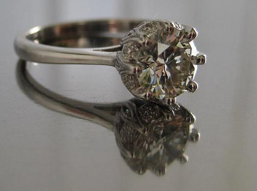 Diamond Engagement Ring Eight Prong Setting