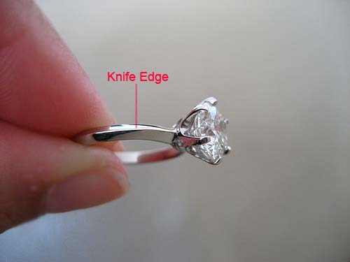 Diamond  Engagement Ring Knife Edge Mounting