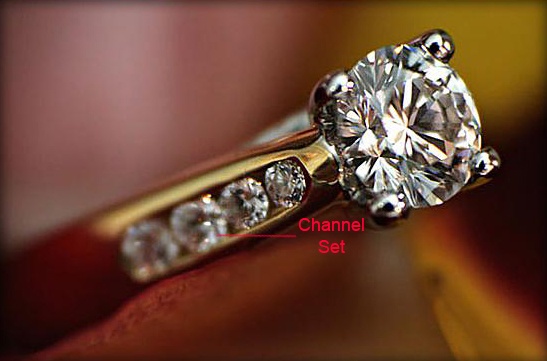 Channel Set Diamond Engagement Ring