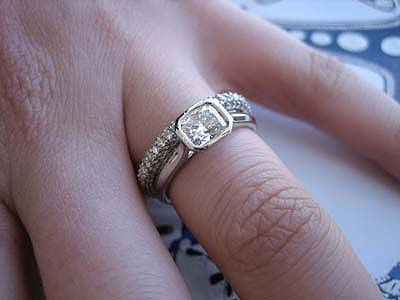 diamond in angle p half gold wedding rings bezel engagement white set