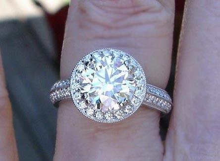 diamond halo engagement ring - Halo Wedding Rings