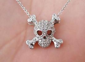 Roberto Coin Diamond Skull Pendant