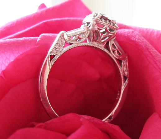 Pave Diamond Engagement Ring