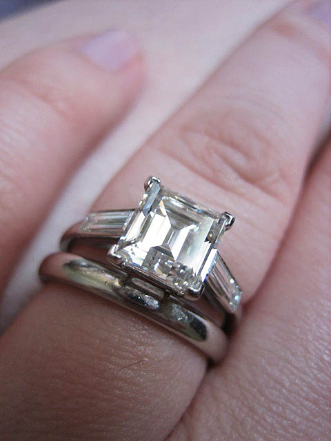 Diamond  Engagement Ring V Prong Setting