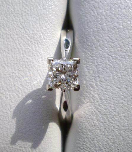 Diamond Engagement Ring V Prong Setting