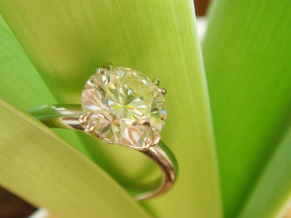 Diamond Solitaire Enement Ring