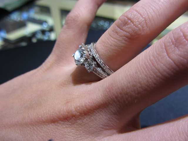 pics of various wedding bands also from Tacori but different styles