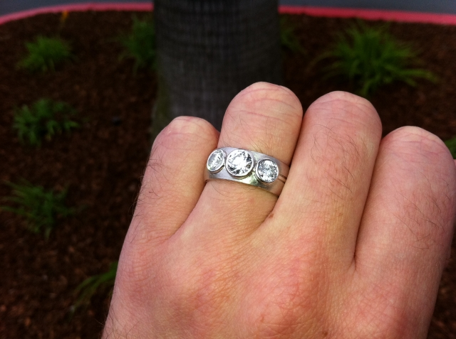 Hand Shots of my 3-stone bezel ring : Show Me the Bling ...